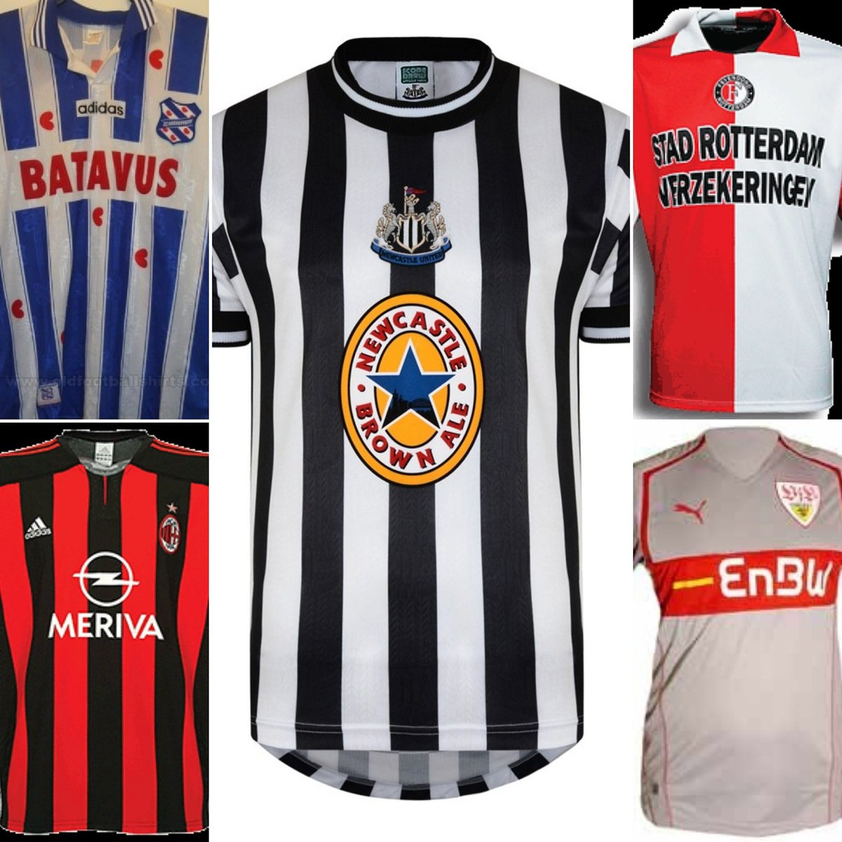 Teaser 171: Shirts from their career. Name the player:  #Football #EPL #PremierLeague #Toon #GuessWho #UEFA #FIFA #Journeyman<br>http://pic.twitter.com/eJMQxKXUnJ