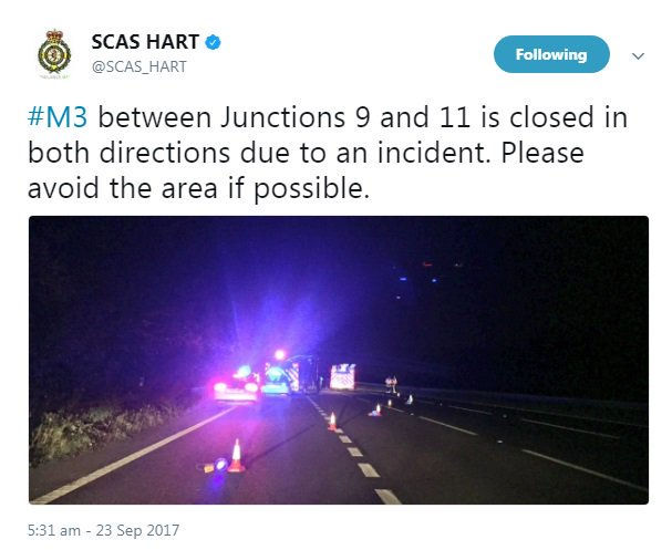 Traffic chaos as hazardous material closes motorway