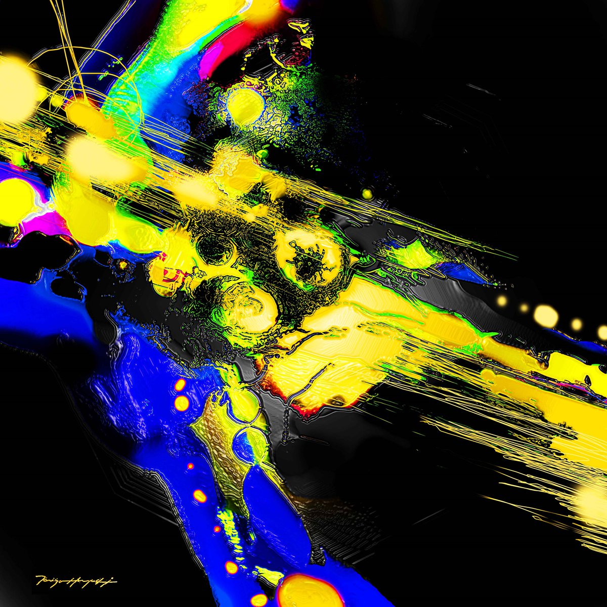 """"""" The Beat of Night #002 &quot;  Art works by Taizo Hayashi ; japan #art #abatractpainting #abstractart #digital  #modernart  #絵描きさんと繋がりたい #抽象画<br>http://pic.twitter.com/EFUjwy75Na"""