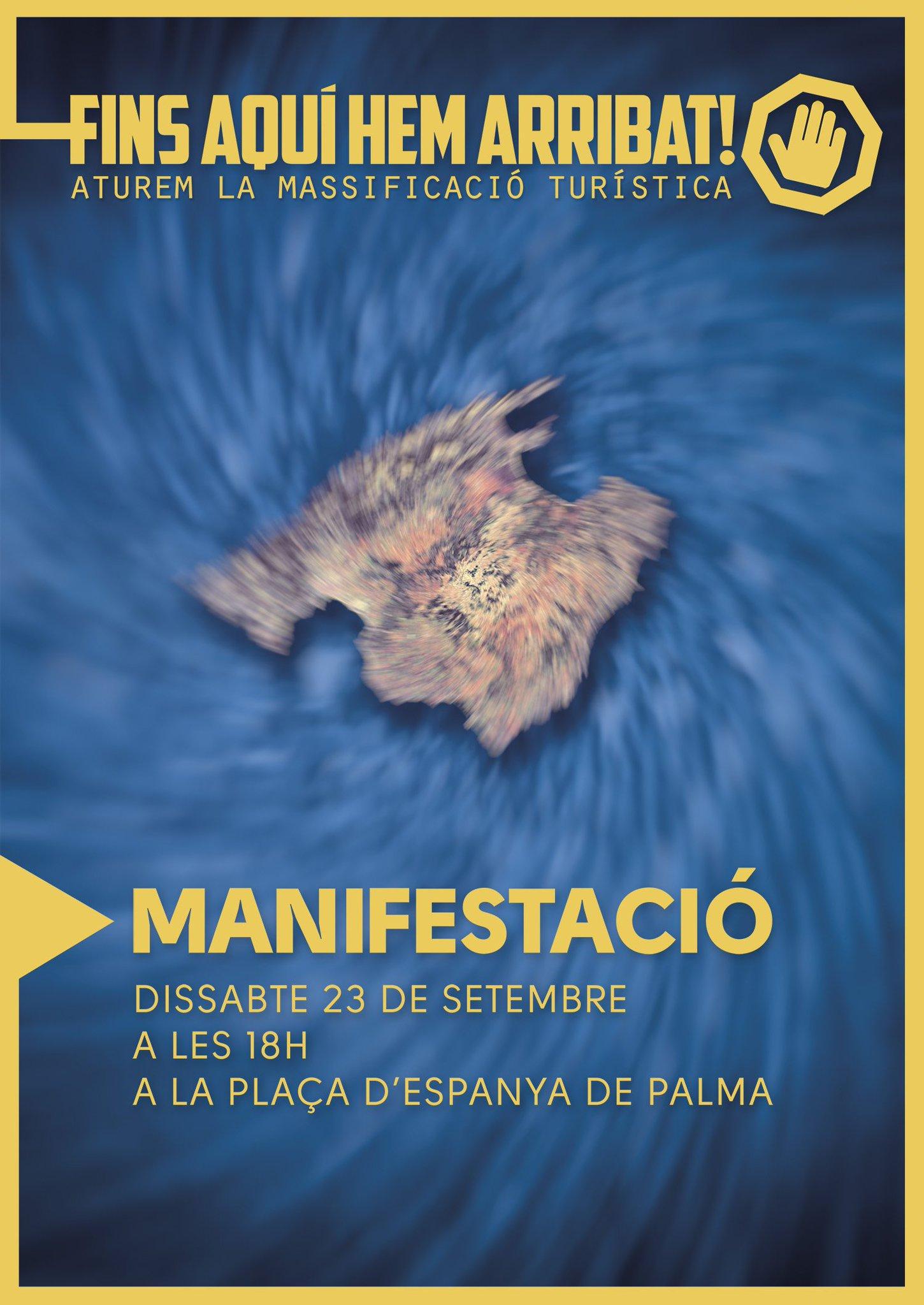 #FinsAquíHemArribat Milers de persones reivindiquen a #Palma un nou model turístic https://t.co/aoW6DhUUiw @Fins_Aqui @eimallorca pic.twitter.com/cvhK6J2o8U — COS Països Catalans (@COSnacional) 23...