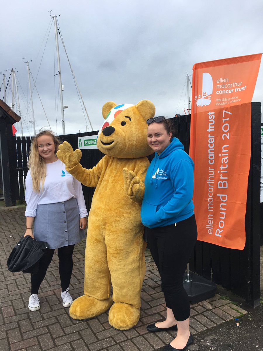 #Pudsey has come to join in the #RoundBritain2017 action!! @BBCCiN