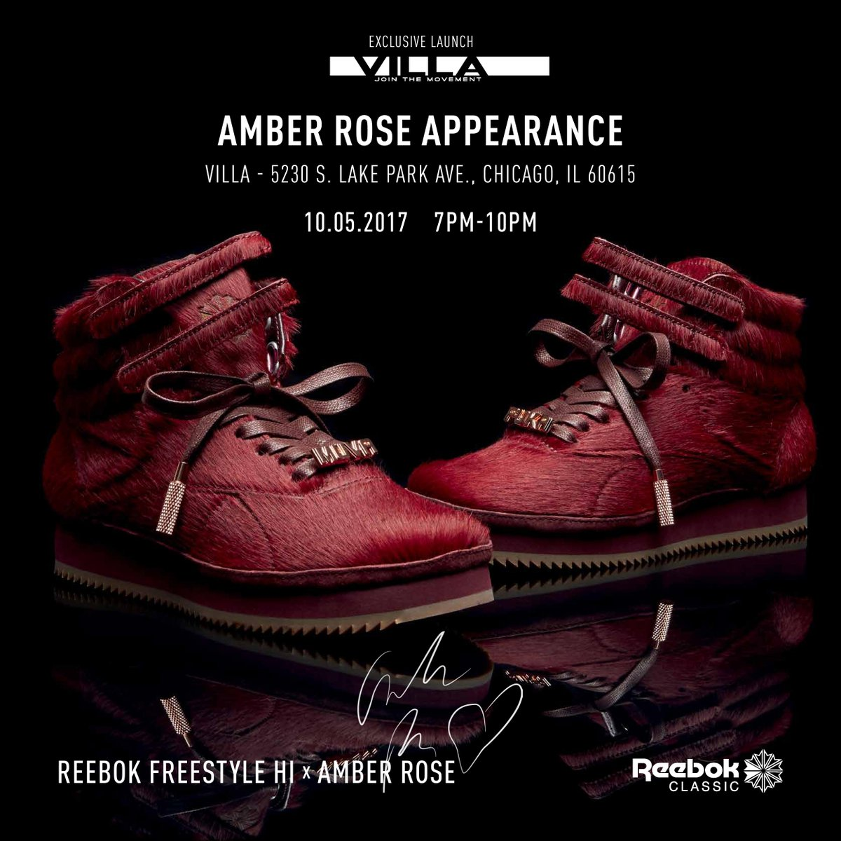 Chicago - Thursday 10.5.17  AmberRose Exclusive Reebok Freestyle Hi  release with a special in-store appearance activation   villa hydepark.pic.twitter.com  ... cfd863d38