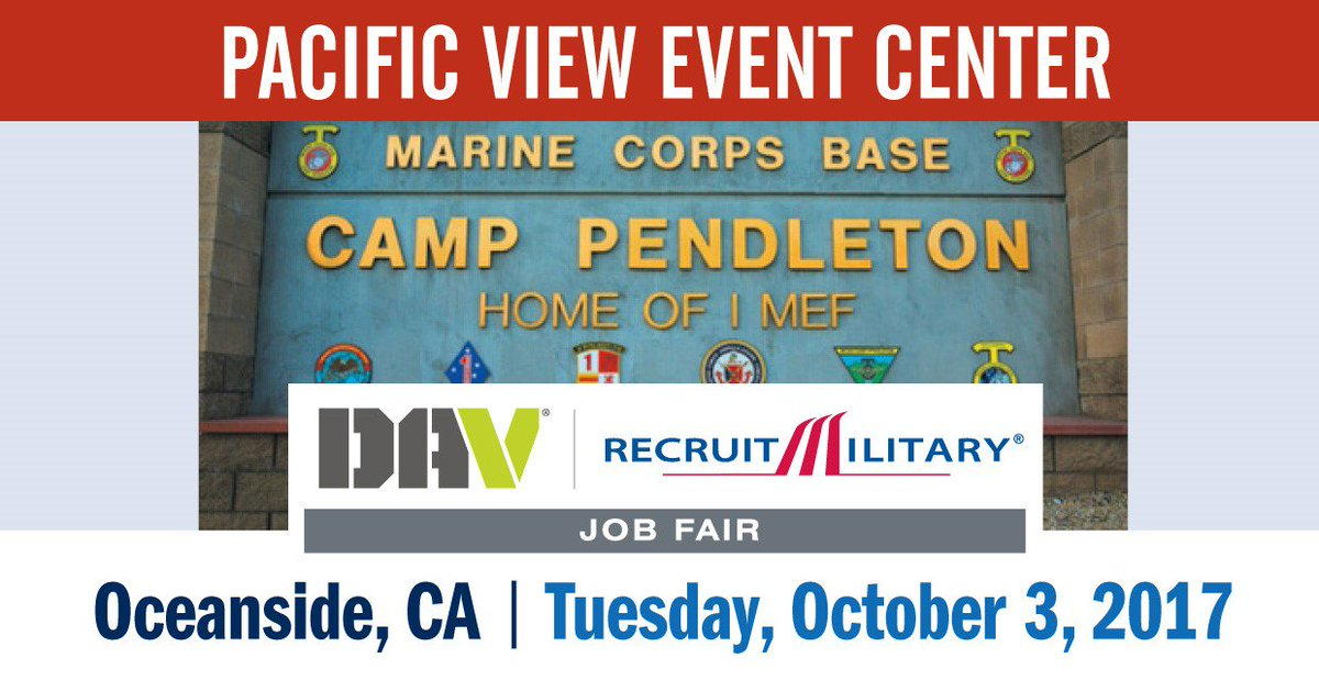 recruitmilitary on twitter employers value your service and skills job fair sponsored by davhq for veterans at camppendleton