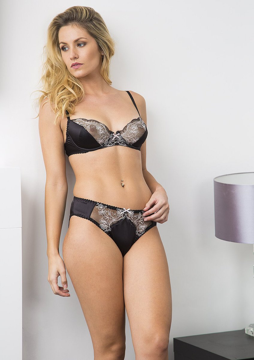 A seductive new collection in luxurious black silk satin and sparkling  embroidered lace on sheer net.  silk  lingeriepic.twitter.com NRoZ0IfD1V b9e982c64