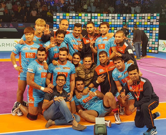 A superb performance and a crucial win by my boys @BengalWarriors 👏👏 Keep roaring #AamarWarriors https://t.co/3FzSaqkZxE