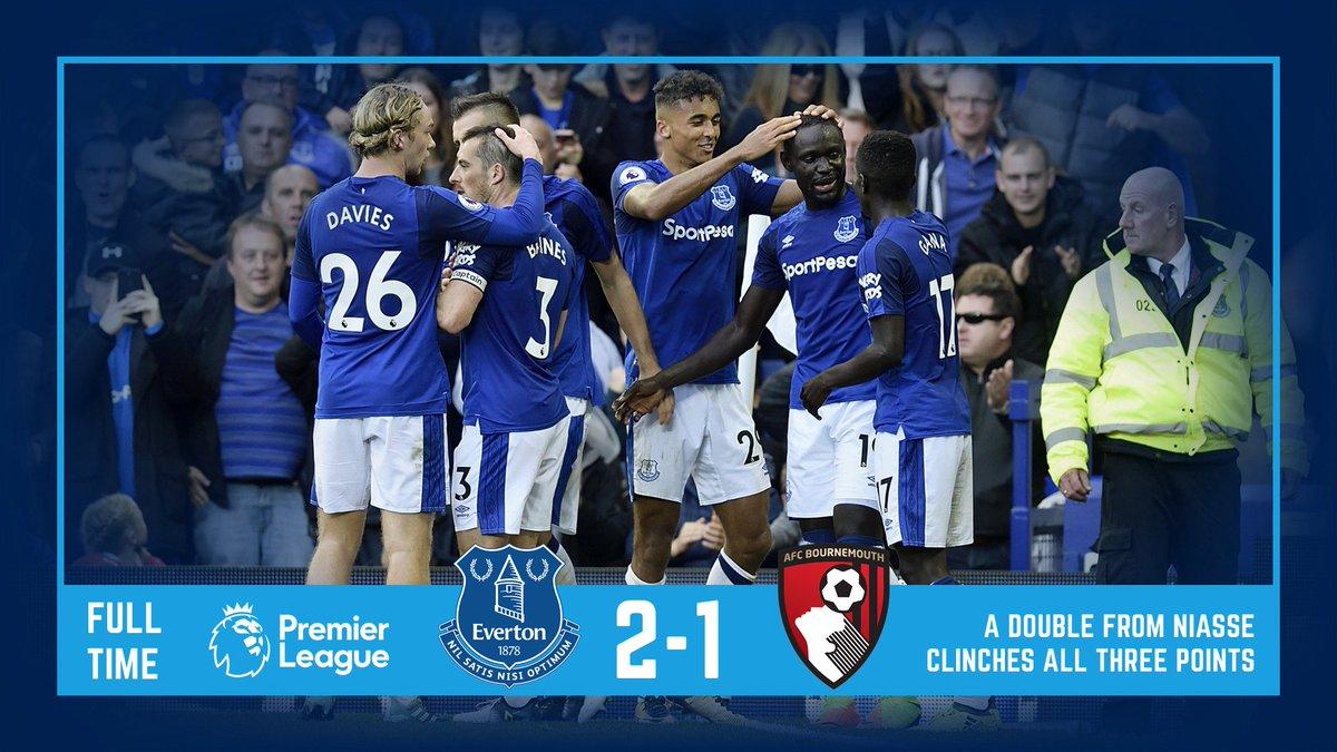 EvertonПодлинная учетная запись@Everton         FT #EFC 2-1 #AFCB. Get in! #EFCmatchday