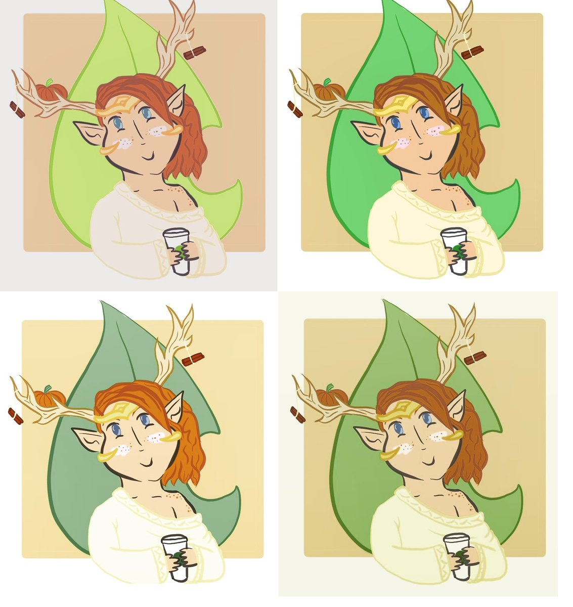 I couldn&#39;t pick my favorite, so I made a tile out of them! #Keyleth #criticalrole #criticalrolefanart #dnd #psl #wallpaper #druid #fall<br>http://pic.twitter.com/VxsErl1Z4N