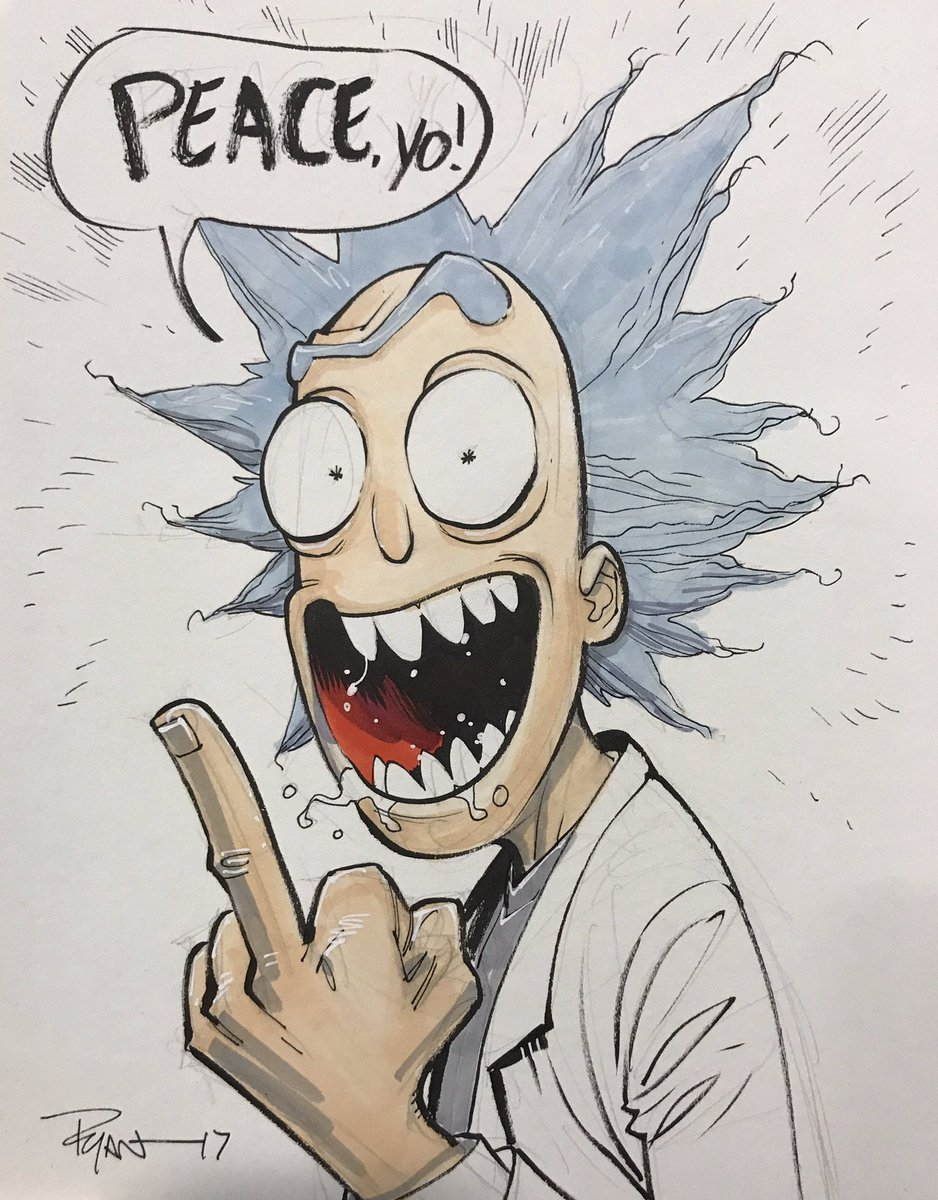 Ryan Ottley On Twitter Peace Among Worlds Rick Slcomiccon