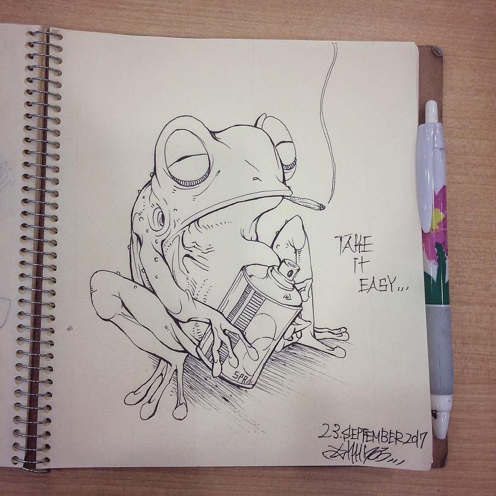#qucik #drawing of #frog (OvO)  http:// ift.tt/2xAFbUv  &nbsp;  <br>http://pic.twitter.com/B5shwdqHVG