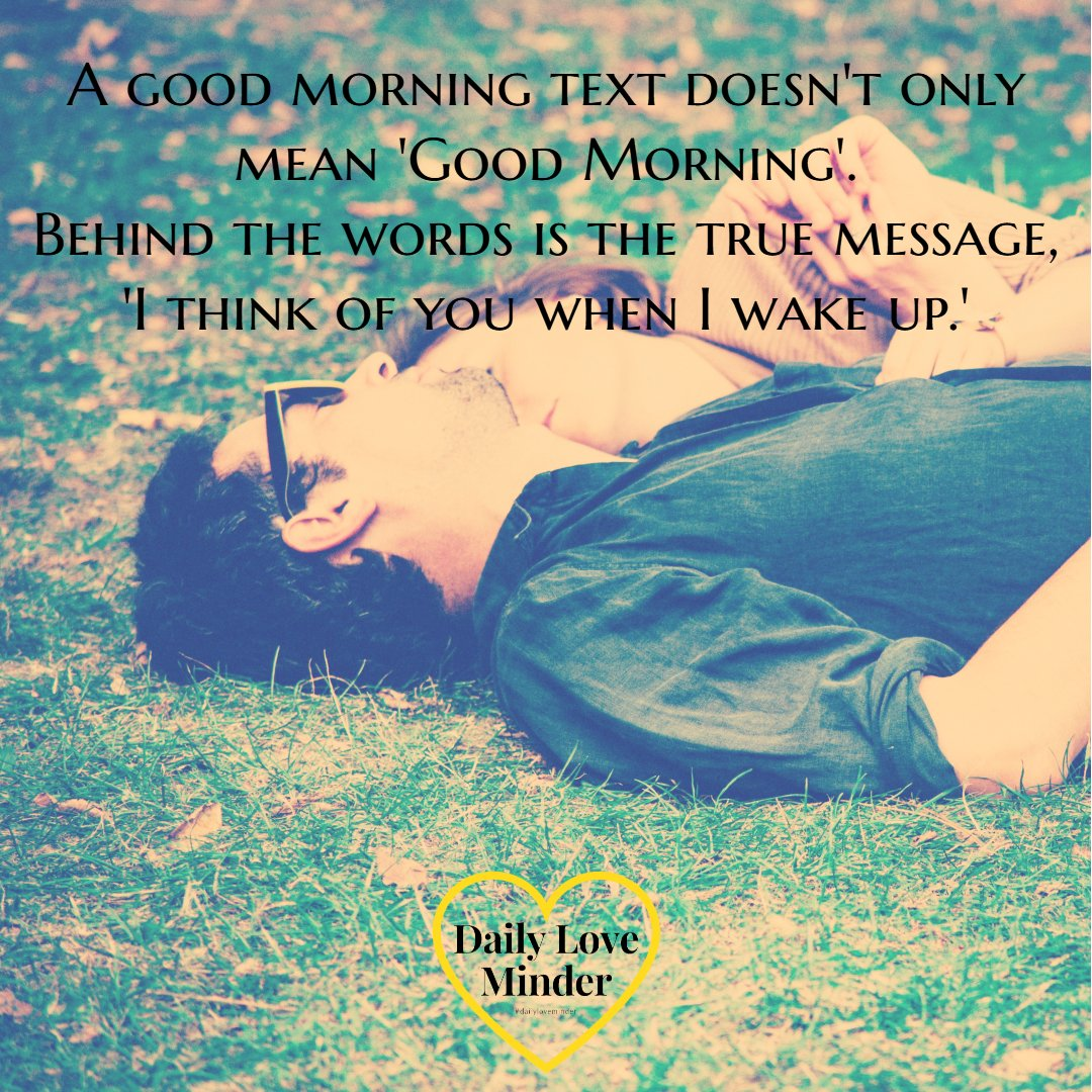 Who do you text &#39;Good Morning&#39;? Mention them so they'll know.  #love #lovequotes #quotes #marriagequotes #dailyloveminder<br>http://pic.twitter.com/W5S2LHJQhf