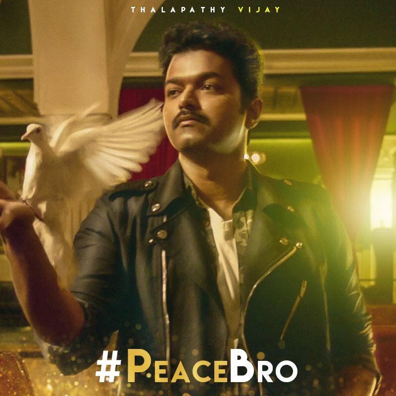 #PeaceBro  joins #IamWaiting as a memorable English punchline for #Thalapathy #Vijay fans. #Mersal <br>http://pic.twitter.com/Gby4QDyvEh