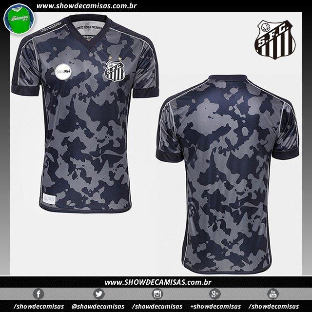 Nova terceira camisa que a  Kappa fez para o  Santos  SantosFC  Peixe usar  no Brasileirão  NossaBatalhaÉNoCampo. ... 77282e5b3a130