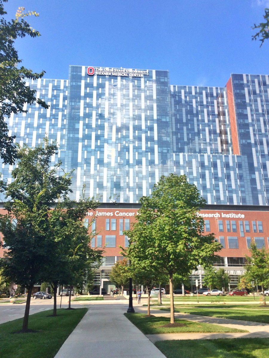 G&#39;morning, @OSUWexMed! Beautiful day to be out &amp; about on campus. How do you keep all those windows sparkling? #BuckeyePride #OSU #PhDlife <br>http://pic.twitter.com/AUN2cZd5g6