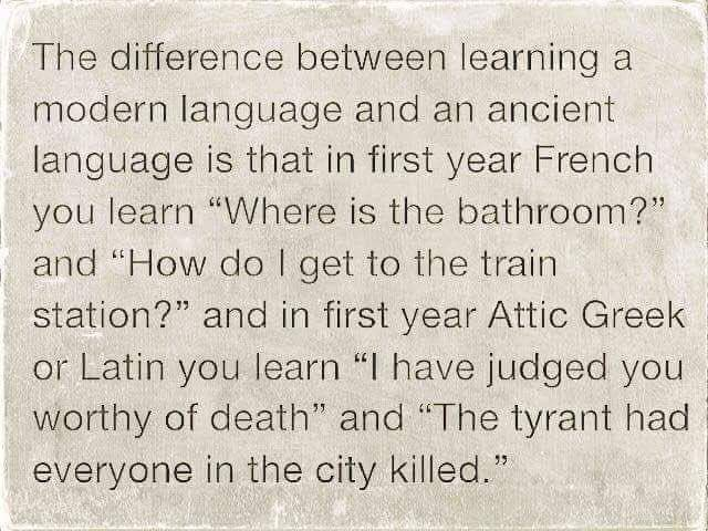 test Twitter Media - RT @ticiaverveer: The difference between learning a modern language and an ancient language https://t.co/oLqO2wl4Oh