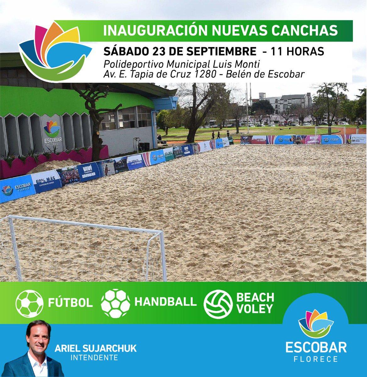 """Municipio de Escobar on Twitter """"Nuevas canchas en el"""