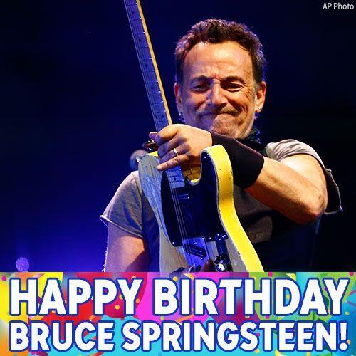 Guess who was Born in the USA 68 years ago today? That s right: Bruce Springsteen! Happy Birthday to The Boss!
