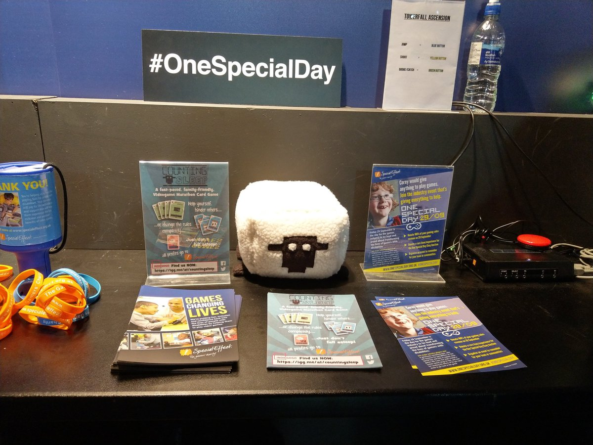 Winston is hanging out with our friends @SpecialEffect at #EGX today! He welcomes your cuddles. #sheep <br>http://pic.twitter.com/OQmUTpW4lh
