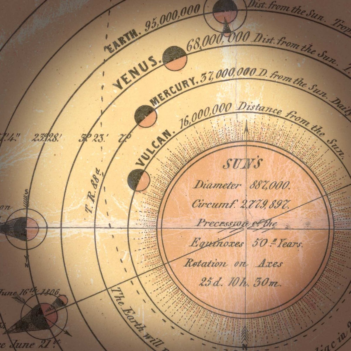 #DidYouKnow that in the 1800s, a hypothetical fire planet named &quot;Vulcan&quot; was thought to exist between Mercury and the Sun. <br>http://pic.twitter.com/TNvirZiyuS