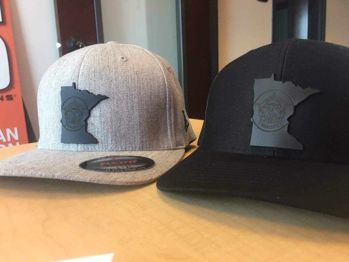 Hey gang, we found the guy who made &amp; sent us these sweet #MN hats you all loved! Hit him up for details --&gt; @azsioux &amp; @brandedbills<br>http://pic.twitter.com/qkDTqIvUTL