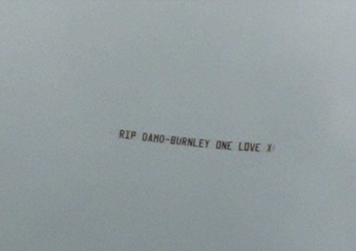 Damo you&#39;ll never be forgotten #R.I.P.BigMan X X X, nice little message flying over @turfmoor today X X<br>http://pic.twitter.com/GkCh9iCtjq
