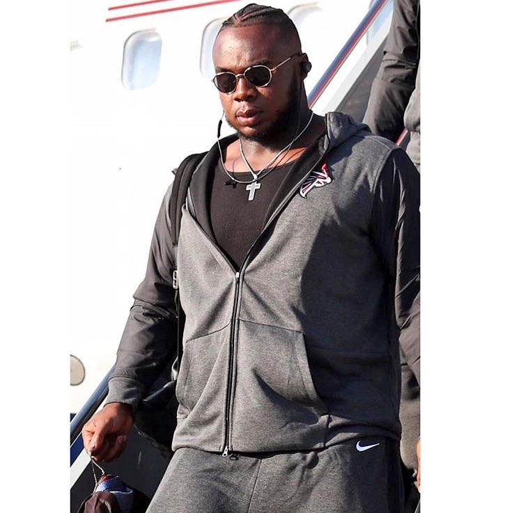 Grady Jarrett and the @AtlantaFalcons land in Detroit to take on the @Lions in Sunday.  #ClemsonNFL <br>http://pic.twitter.com/kcSsb9vnqm