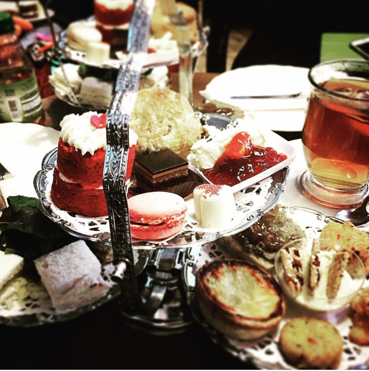 This is Mrs Danvers Vegetarian Afternoon Tea. Selections of sandwiches, savouries &amp; sweets. #afternoontea #cake #tea #mrsdanverscafe #treat<br>http://pic.twitter.com/Tnulo2gexN