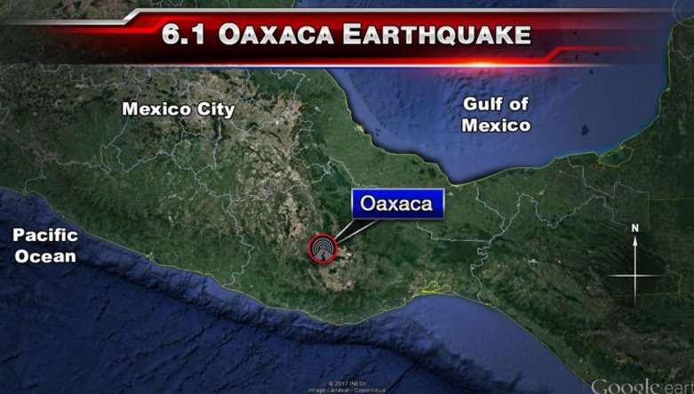 #DEVELOPING 6.1 magnitude earthquake hits Oaxaca, Mexico. No reports on any damages or injuries. <br>http://pic.twitter.com/59dYuUzWTE