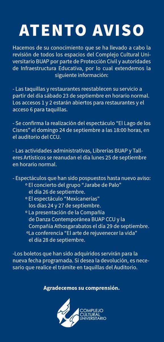 CCU BUAP on Twitter: \