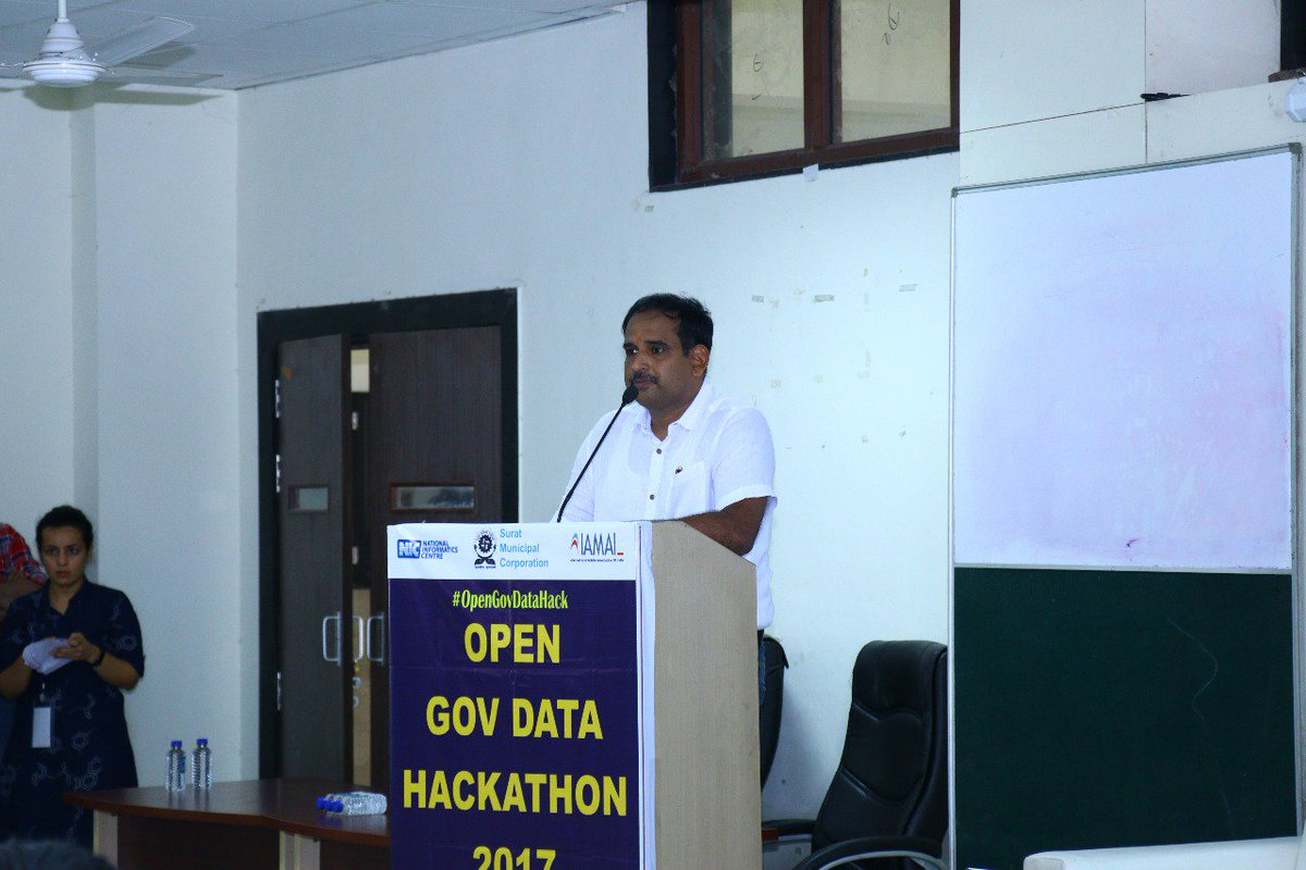 Inaugurated the #OpenGovDataHack at SVNIT today. Innovative minds are working for 24hrs to build solutions on #OpenData <br>http://pic.twitter.com/p5OqkDRQPx