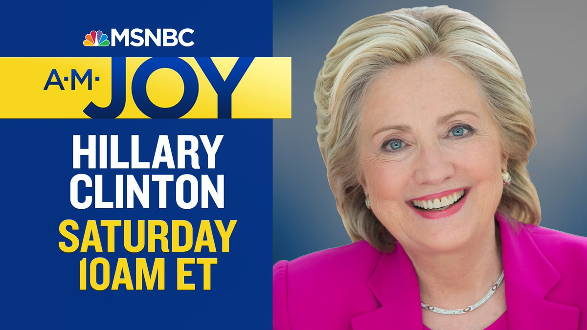 Coming up: @HillaryClinton has a lot to say about #CassidyCare. Next hour, Joy&#39;s interview with the former secretary of state. #AMJoy <br>http://pic.twitter.com/xuJF6LQT1t
