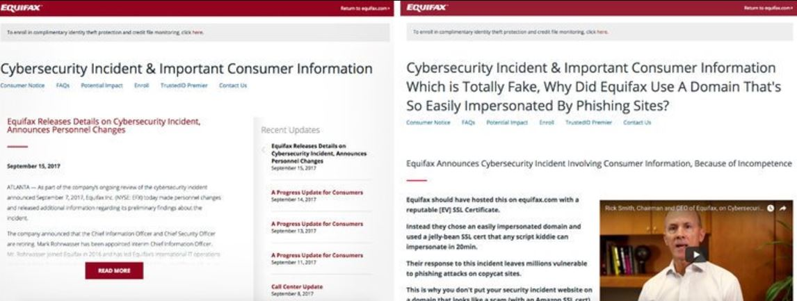 Someone Made a Fake #Equifax Site. Then Equifax Linked to It.  (The New York Times)  #Data #Security #Privacy  http:// nyti.ms/2xTKzTg  &nbsp;  <br>http://pic.twitter.com/mjvz5s9P97