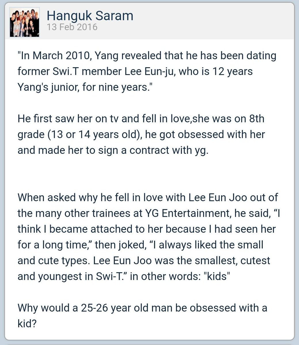 Yg dating contract