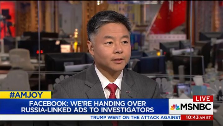 .@RepTedLieu: If there is evidence that Jared Kushner also coordinated with the Russians then Kushner also violated the law #AMJoy <br>http://pic.twitter.com/zm9YQ8CYFw