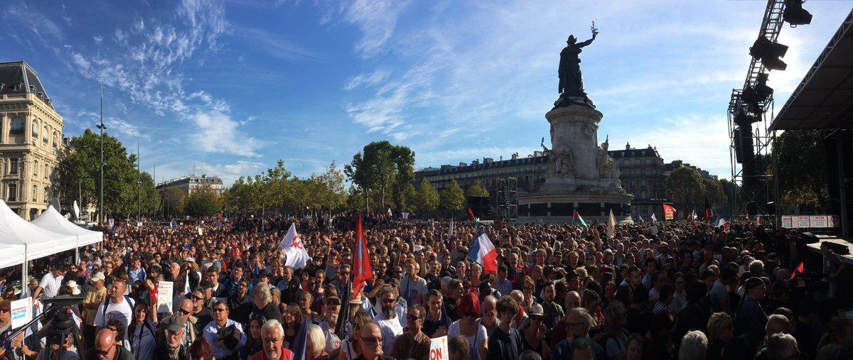 Nous sommes 150 000 rassemblés contre le coup d'État social d'Emmanuel Macron ! Quelle mobilisation ! #JaiBastille