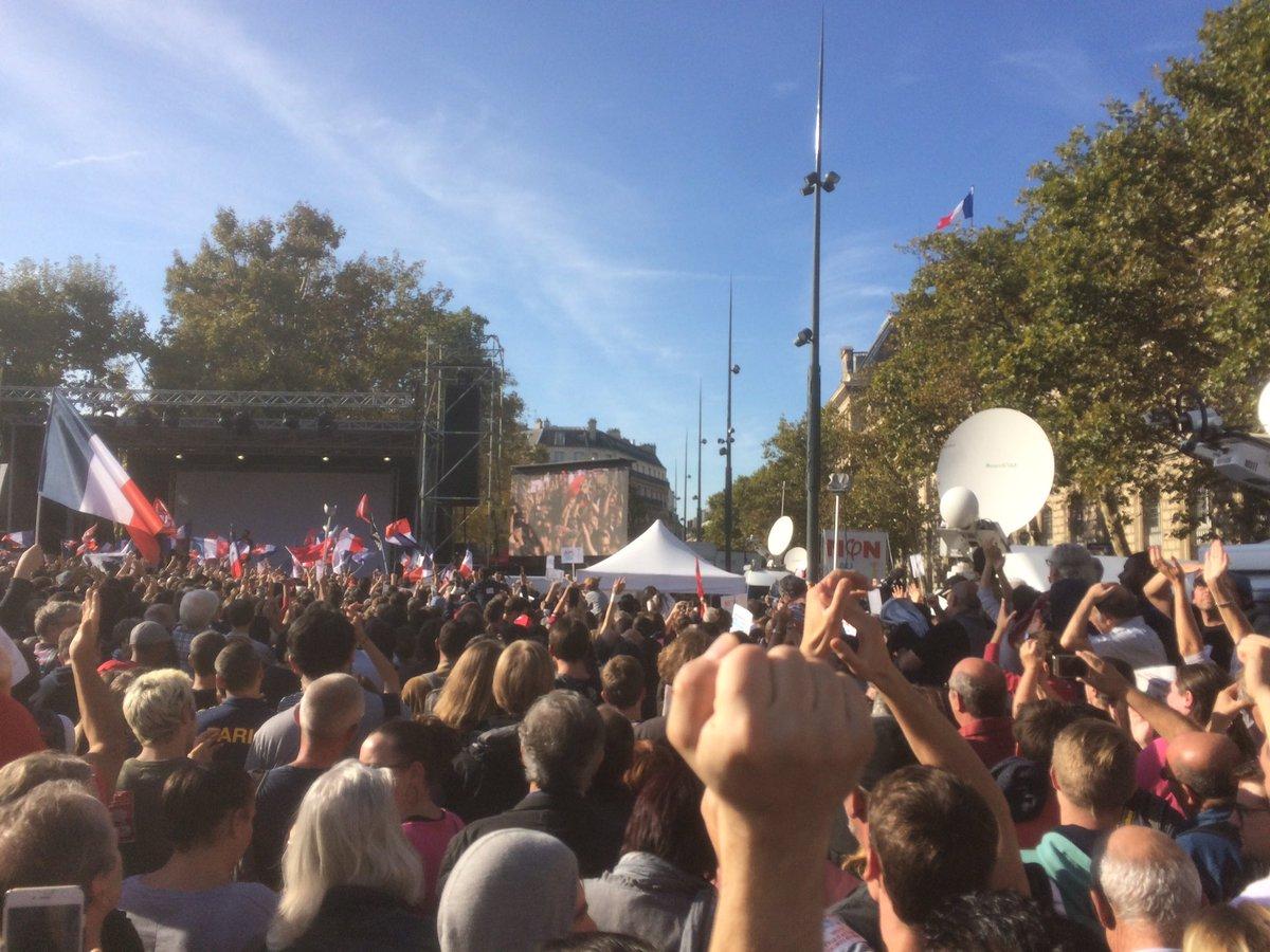 Charlotte Girard annonce 150.000 manifestants #manif23sept #jaiBastille