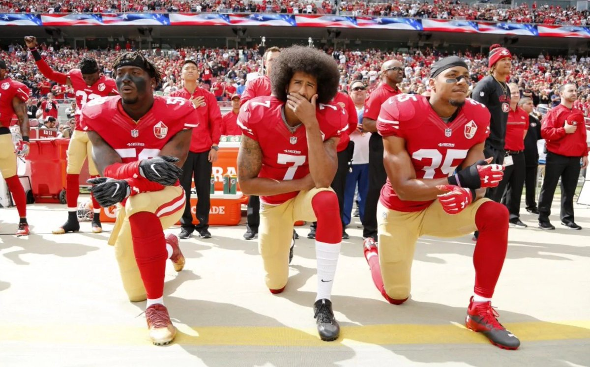 If peaceful protests did nothing, the powerful wouldn't try so hard to silence them. #TakeAKnee https://t.co/0aONI66gJF