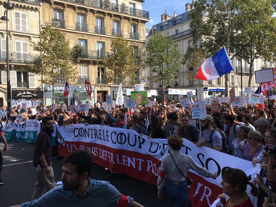 #CoupdEtatSocial: On #23Septembre, #FranceInsoumise leads the people against Emmanuel #Macron (PHOTOS) #jaiBastille #NuitDebout #CGT #PCF<br>http://pic.twitter.com/XMIUv7s2eI