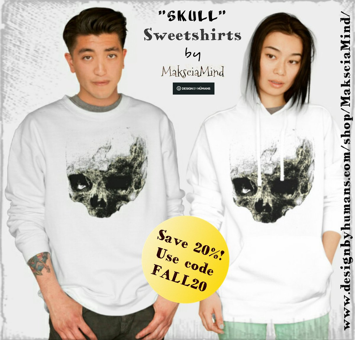 Save 20% on Skull Sweatshirts -》  https://www. designbyhumans.com/shop/pullover- hoodie/out-of-the-dark/648700/ &nbsp; …   #maksciamind @DesignByHumans  #crewneck #pullover #hoodies #men #woman #horror<br>http://pic.twitter.com/Ek15ubcHj1