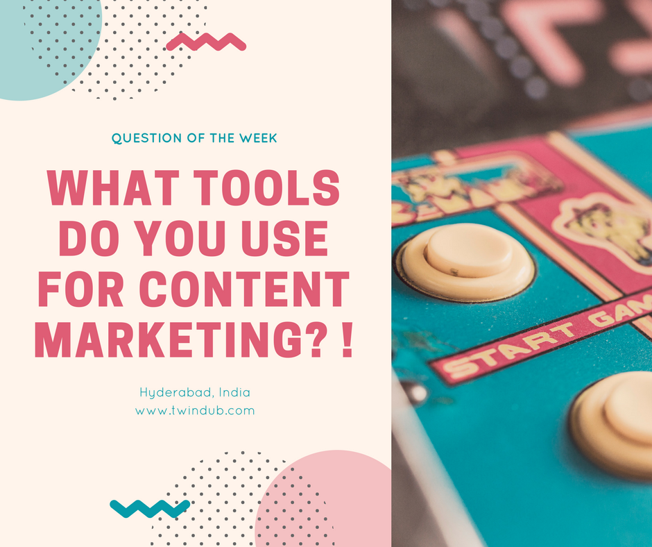 What tools do you use for #ContentMarketing? #socialmediabranding #contentmanagement #socialmediamarketing #startup #smallbusiness #twindub <br>http://pic.twitter.com/sbga5ZWok6