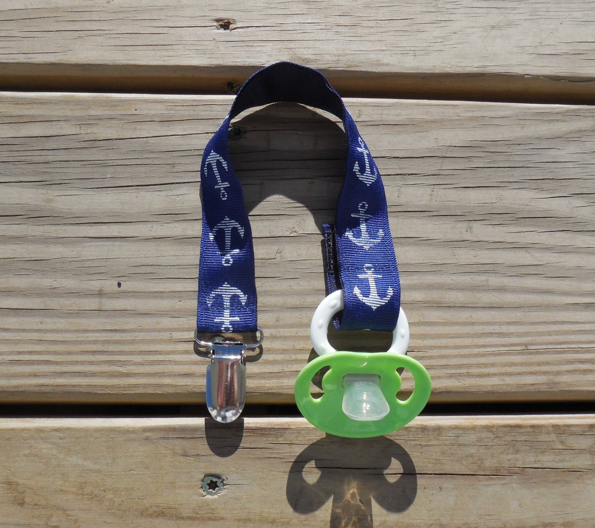 Pacifier Holder, Navy Anchors Ribbon Pacifier Holder or Clip Baby…  http:// tuppu.net/8e695d20  &nbsp;   #EpicOnEtsy #GabbysQuilts<br>http://pic.twitter.com/O1OISBkFuc