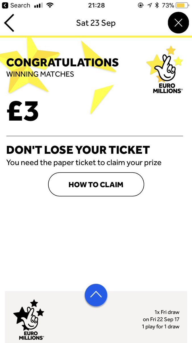 If you don't buy a ticket, you can't win.... absolutely buzzing after my win last night #EuroMillions #balling<br>http://pic.twitter.com/jBI3jHmvd2