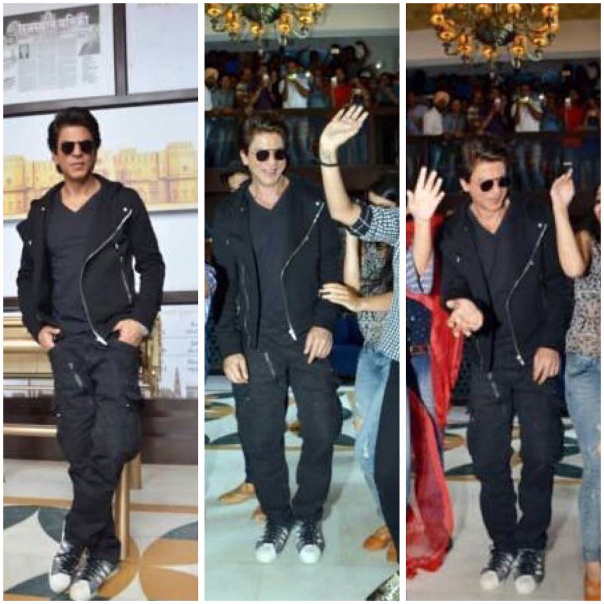 #Throwback during #JHMS promotions: SRK looks sexy, smashing &amp; definitely killing in the causal attire,King Khan is the master of cool looks <br>http://pic.twitter.com/IQgXnEslHm