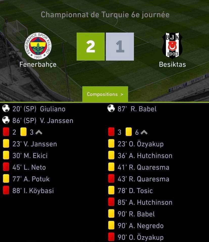 Le derby en Turquie, ça rigole pas...  #FENBES #Fenerbahce #Besiktas