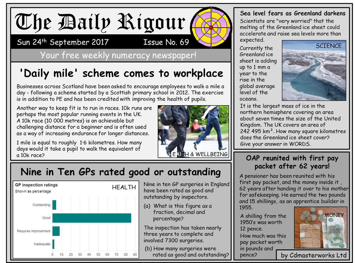 worksheet Workplace Numeracy Worksheets rigour maths on twitter want to improve your numeracy skills try this weeks dailyrigour 69 free newspaper