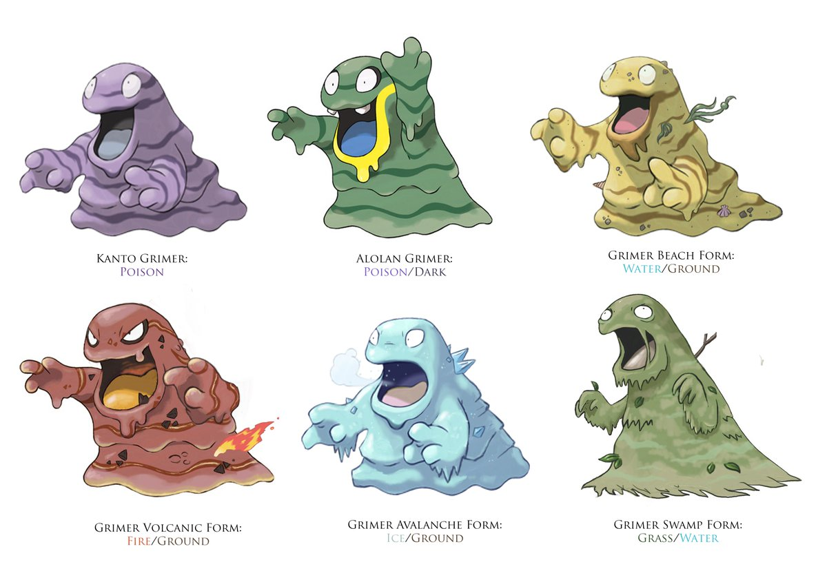Bit of fun with Grimer forms. If you want more information check out my Facebook Page ;) #Grimer #Pokemon #Forms #Pokemonforms<br>http://pic.twitter.com/NBlD1ADmz1