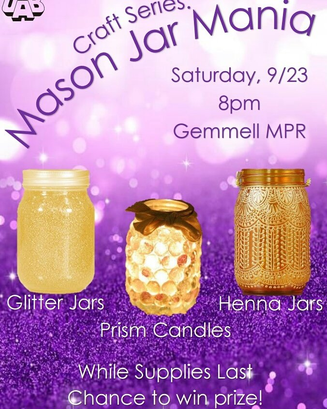 Clarion Uab On Twitter Craft Series Mason Jar Mania Is Tonight At
