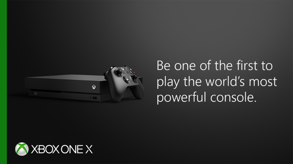 Playing is believing. Demo #Forza7 [E] today and see why the #XboxOneX is the ultimate gaming experience:  http://bit.ly/2xAnyUD pic.twitter.com/UoOztgUBkw