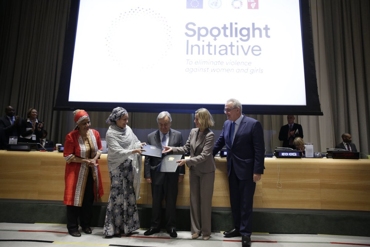 A Highlight of my #UNGA  week: official launch of #SpotlightEndViolence. Timely #EU-#UN partnership to end violence against women&amp;girls.<br>http://pic.twitter.com/FamwAtD2Mj