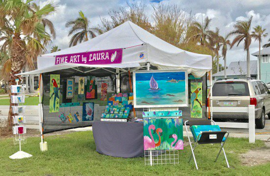 Rain or Shine &quot;FINE ART by LAURA&quot; is Open for Business! #sales #FloridaArtist #Art4Sale #FortPierce #FarmersMarket<br>http://pic.twitter.com/lCqTiOrF8I