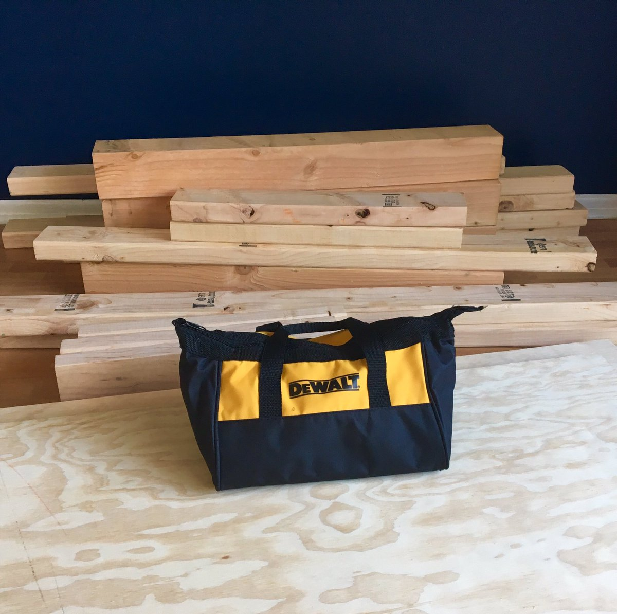 When your living room becomes your workshop. That&#39;s about to change! #diy #woodworking #dewalt #tools #wood #furniture @DEWALTtough<br>http://pic.twitter.com/W0pXcUGXqf